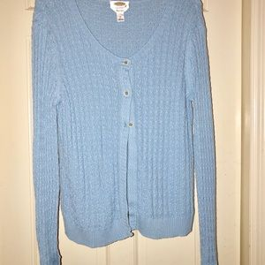Talbots blue cardigan